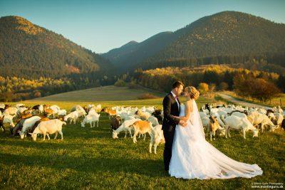Svadobné fotenie v prírode