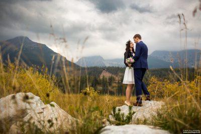 Svadobné portréty v exteriéri - Tatry