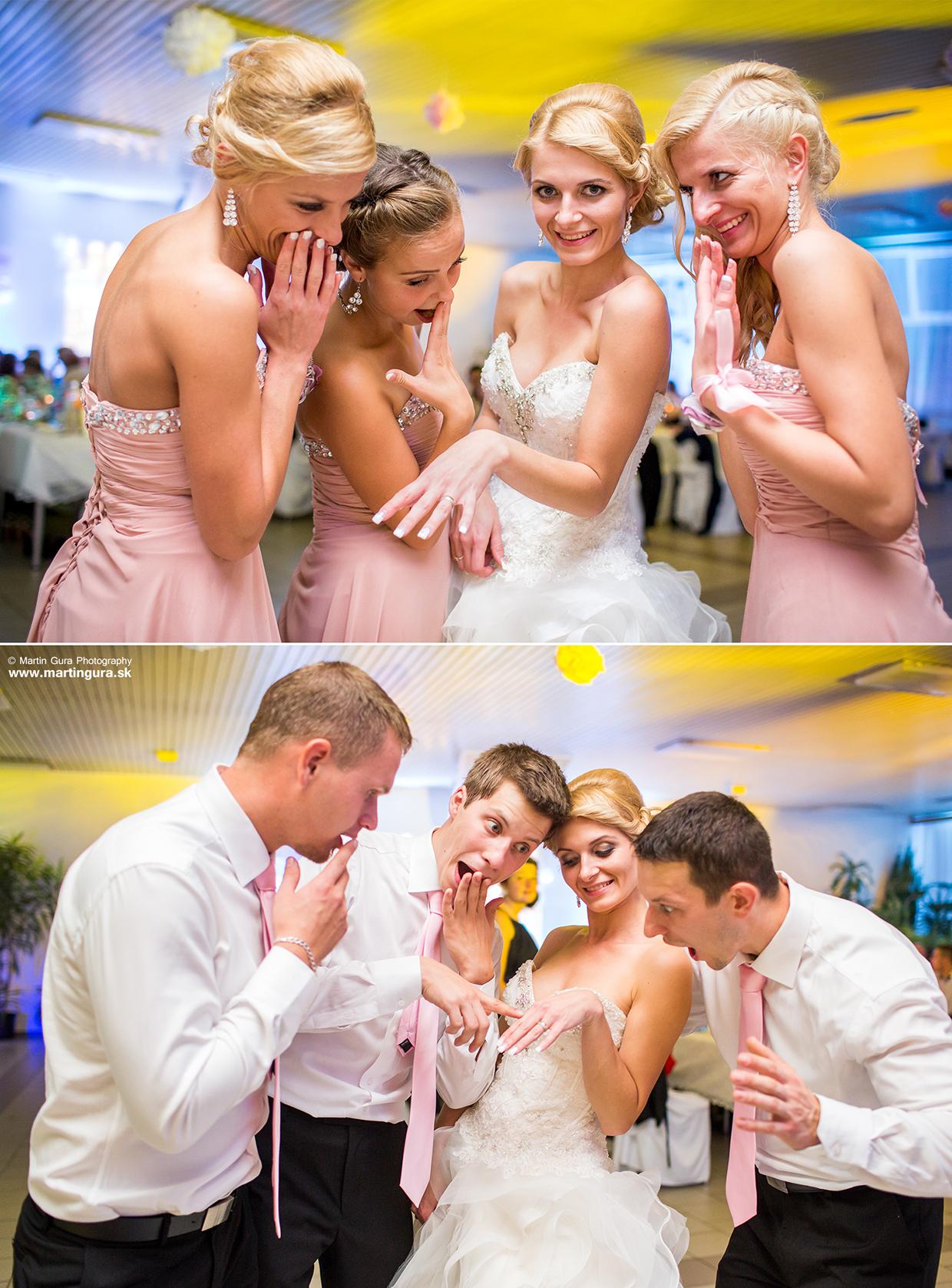 Svadobné foto - nevesta a družičky