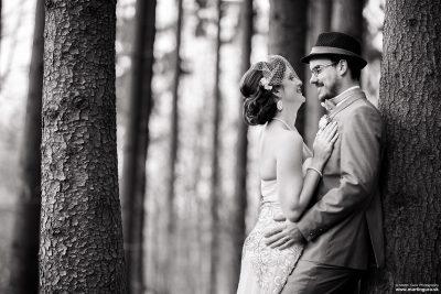 Svadobné portréty v lese