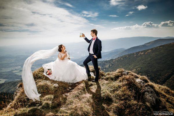 svadobné fotografie v krásnom prostredí