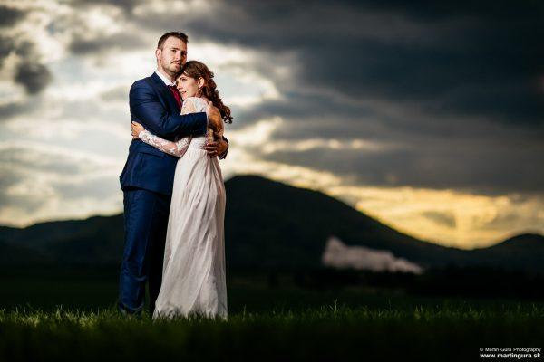 Svadobné fotografie L&M - západ slnka - láska